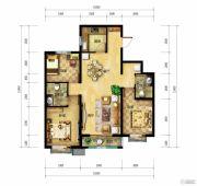 北郡帕提欧3室2厅2卫117平方米户型图