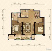 国信・国际公馆2室2厅1卫98--99平方米户型图