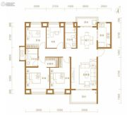 东湖金茂府4室2厅2卫137平方米户型图