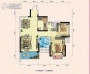 凯富南方鑫城2室2厅1卫89平方米户型图