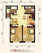 城关江南明珠3室1厅1卫93平方米户型图