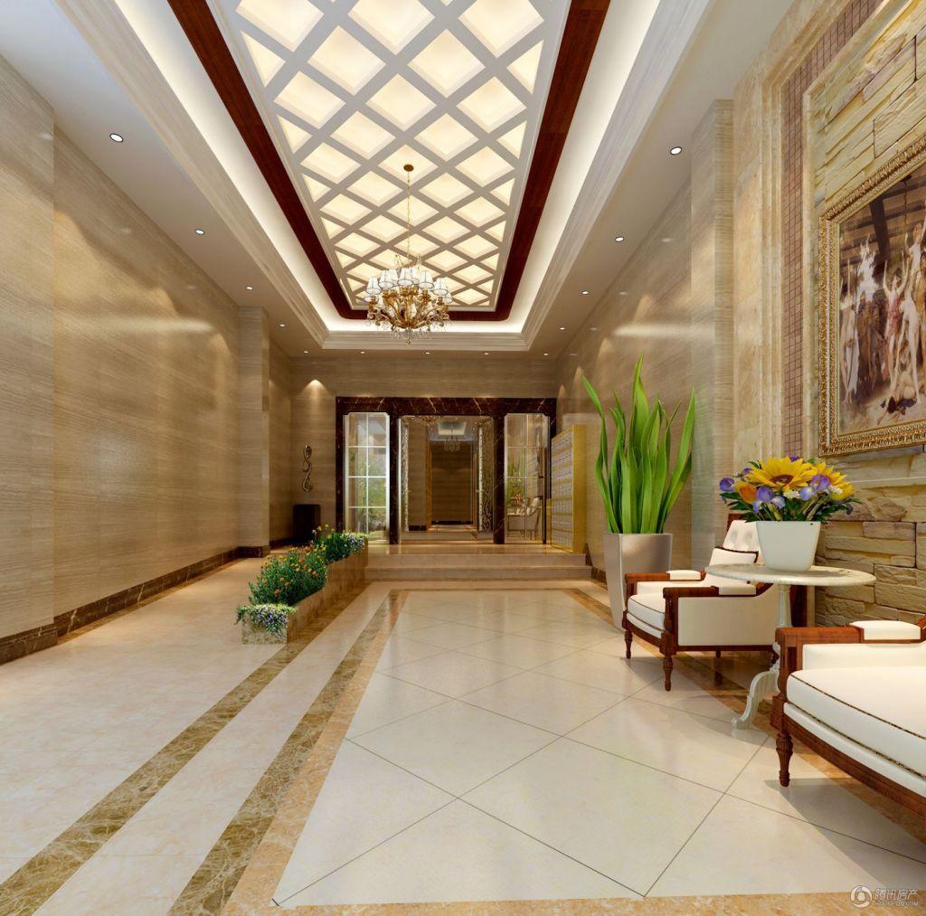 安厦尚城风景8号楼入户门厅装饰效果图