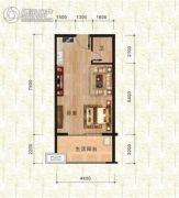 万佳一品・尚书茗苑1室1厅1卫43平方米户型图