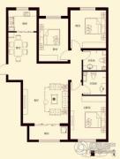 花香漫城3室2厅1卫115平方米户型图