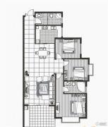 富地蓝泊湾3室2厅2卫143平方米户型图