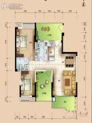 华安珑廷3室2厅2卫104平方米户型图