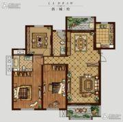 �|方米兰国际城3室2厅2卫160平方米户型图