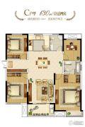 和昌林与城4室2厅2卫130平方米户型图