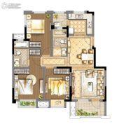 和昌熙溪里3室2厅2卫102平方米户型图