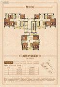 佛山恒大城4室2厅2卫120--122平方米户型图