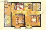 紫郡华宸2室2厅1卫83平方米户型图