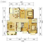 康平家园康平福邸4室2厅2卫136平方米户型图