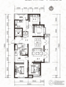当代MOMA沿湖城4室2厅2卫171平方米户型图