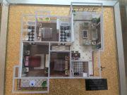 楚荣・首府3室2厅1卫115平方米户型图