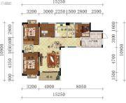 叠翠轩4室2厅2卫130平方米户型图