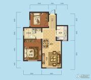 海成天山绿洲四期2室2厅1卫89平方米户型图