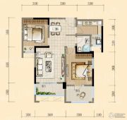 均瑶・御景天地2室2厅1卫87平方米户型图