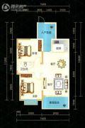 九悦廷2室2厅1卫88平方米户型图