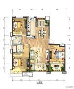 绿地国际花都3室2厅2卫0平方米户型图
