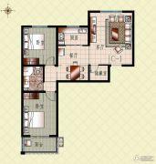 上起澜湾2室2厅1卫102平方米户型图