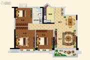 碧桂园翡翠湾3室2厅1卫92平方米户型图