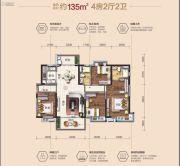 茶山碧桂园4室2厅2卫0平方米户型图