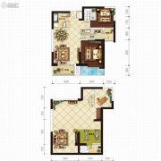 金沙星城2室2厅1卫184平方米户型图