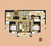 爱法山水国际3室2厅1卫120平方米户型图