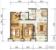 兰石豪布斯卡3室2厅2卫99平方米户型图