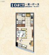 惠丰广场1室1厅1卫40平方米户型图