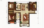 恒丰理想城3室2厅1卫121平方米户型图
