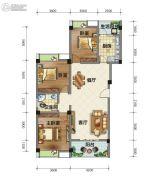 荣华山庄二期温情港湾3室2厅1卫110平方米户型图