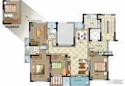 金色城邦4室2厅2卫147平方米户型图