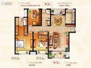 绿地新都会3室2厅2卫137平方米户型图