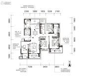 曲江・紫金城4室2厅2卫170平方米户型图