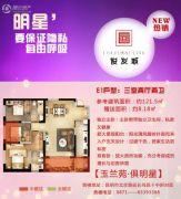 俊发城3室3厅2卫121平方米户型图