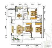 富力红树湾3室2厅2卫120平方米户型图