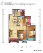 佳兆业丽晶公馆3室2厅1卫81平方米户型图