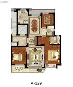 方远天韵水岸3室2厅2卫129平方米户型图