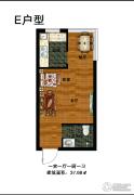 华凯格林郡1室1厅1卫37平方米户型图