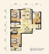 雍和慢城3室2厅1卫0平方米户型图
