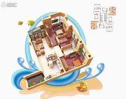 碧桂园十里银滩3室2厅1卫84平方米户型图