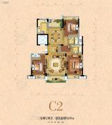 银河名苑3室2厅2卫149平方米户型图