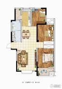 理想城3室2厅1卫110平方米户型图
