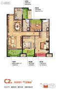 金科天籁城3室2厅2卫124平方米户型图