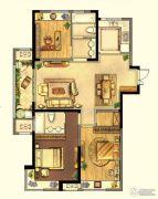 绿地峰云汇3室2厅2卫133平方米户型图