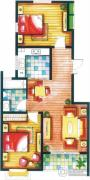 上书房2室2厅1卫87平方米户型图