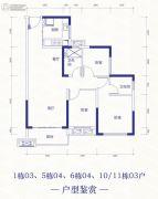 恒大依山海湾3室2厅2卫99平方米户型图