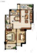 滨江熙岸2室2厅1卫88平方米户型图