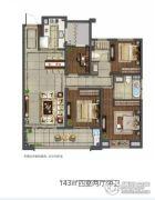 新城・荣樾4室2厅2卫143平方米户型图